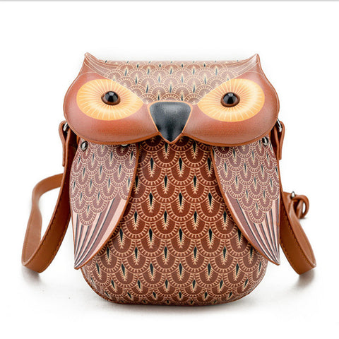 Mini Brown Owl Messenger Bag