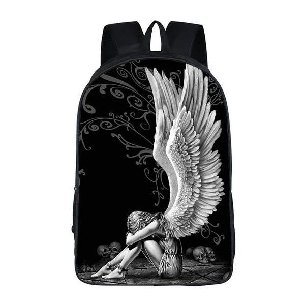 Gothic Dark Fallen Angel Backpack