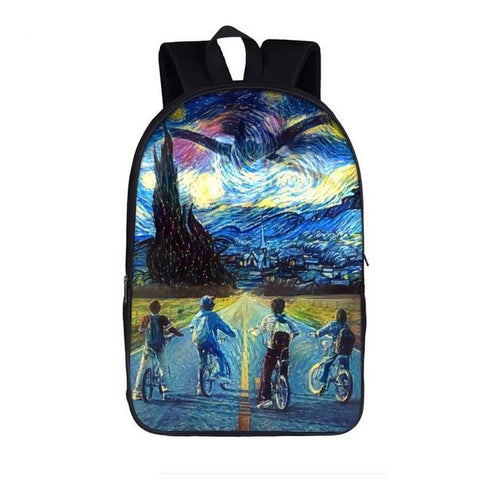 "Funny Stranger Things Theme Backpack (17"") Style 5"