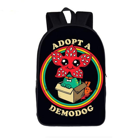 "Funny Stranger Things Theme Backpack (17"") Style 8"