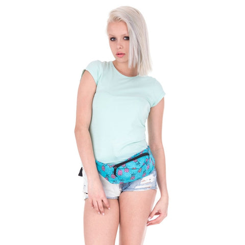Blue Pineapple Waist Bag