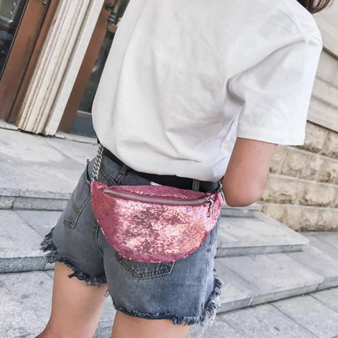 Sequin Waist Bag