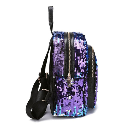 Mini Multi-Color Sequin Backpack w/ Pencil Case
