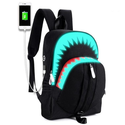 Glow-In-The-Dark 3D Shark Backpack