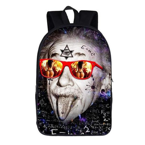 Funny Albert Einstein Sunglasses Backpack