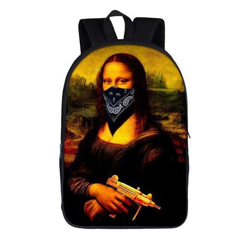 Gangsta Mona Lisa Backpack