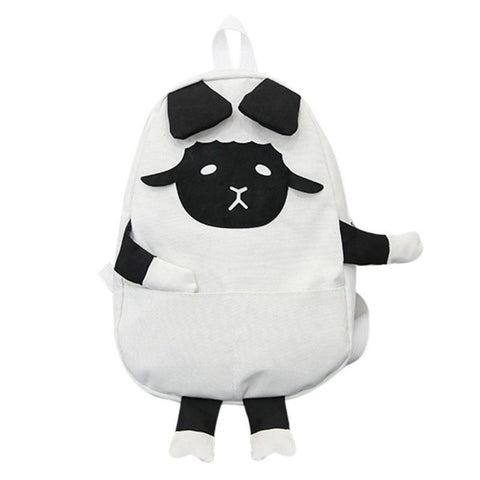 Kids Canvas Sheep Backpack