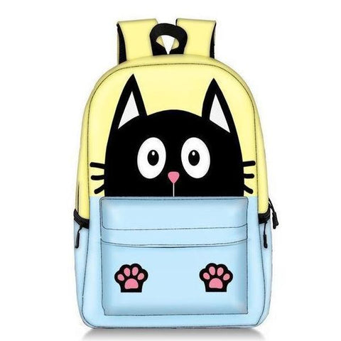 Kids Cute Two-Tone Kitty Cat Backpack