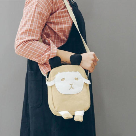 Mini Canvas Sheep Shoulder Bag