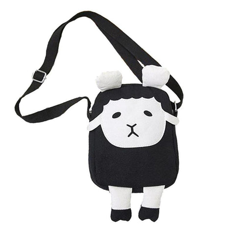 Black Mini Sheep Messenger Bag