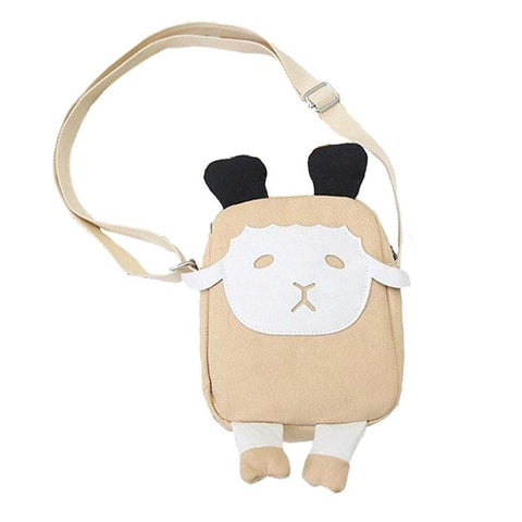 Beige Mini Sheep Shoulder Bag