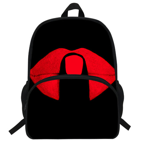 Lips Backpack with Finger