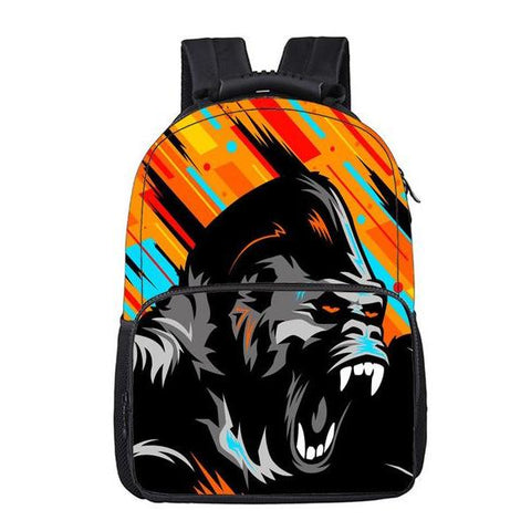 Abstract Gorilla Backpack