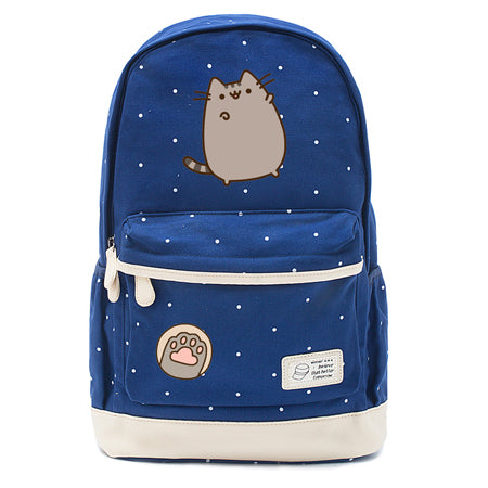 Navy Pusheen Cat Backpack Style 1