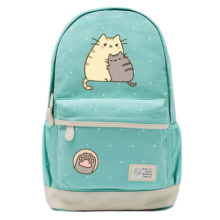 Teal Pusheen Cat Backpack Style 2