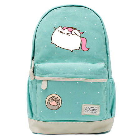 Teal Pusheen Cat Backpack Style 7