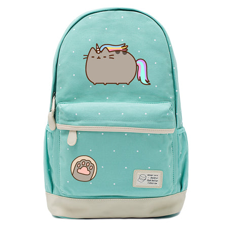 Teal Unicorn Cat Backpack Style 8