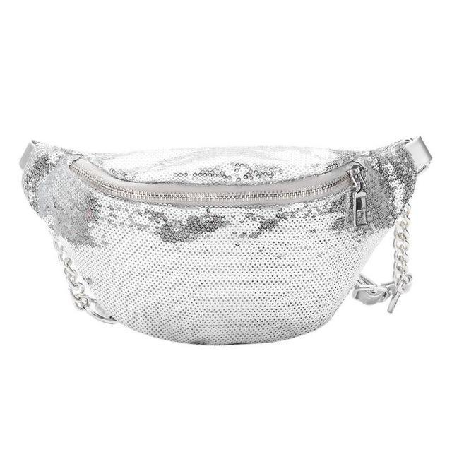 Silver Sequin Fanny Pack