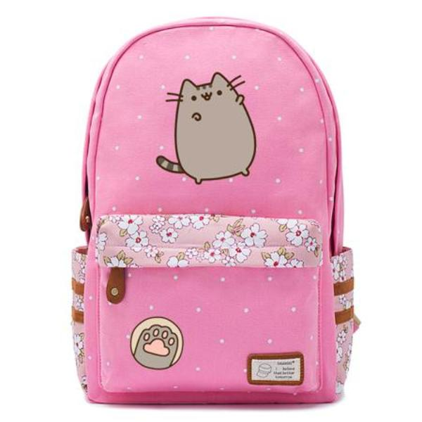 Pink Pusheen Cat Backpack Style 1