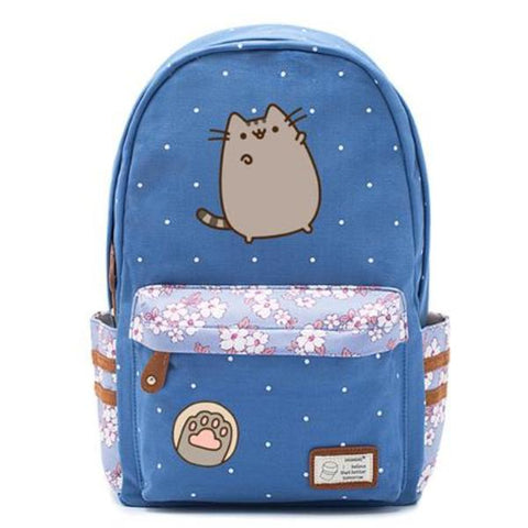 Blue Pusheen Cat Backpack Style 1