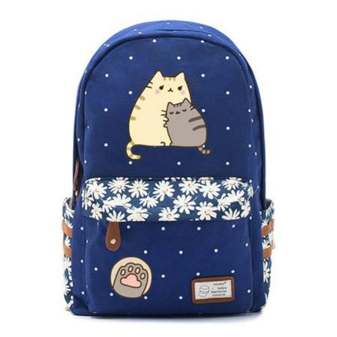Navy Pusheen Cat Backpack Style 2