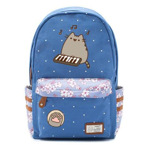 Blue Pusheen Cat Backpack Style 5