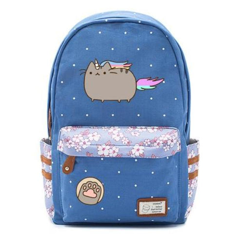 Blue Pusheen Cat Backpack Style 6