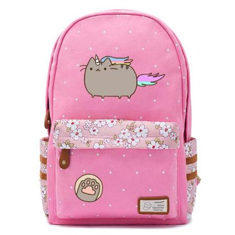 Pink Pusheen Cat Backpack Style 6