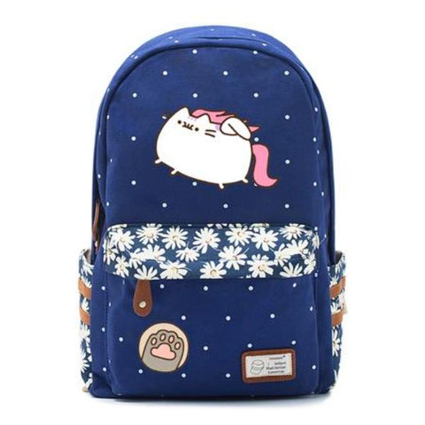 Navy Pusheen Cat Backpack Style 7