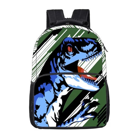 "Abstract Raging Dinosaur Print Backpack (16"") Default Title"