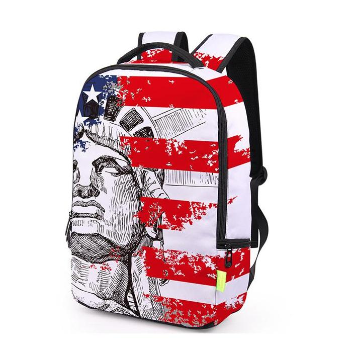 Statue Of Liberty USA Flag Backpack