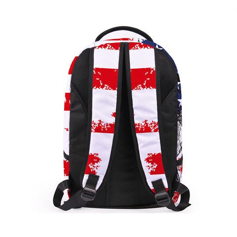 Back of USA Backpack