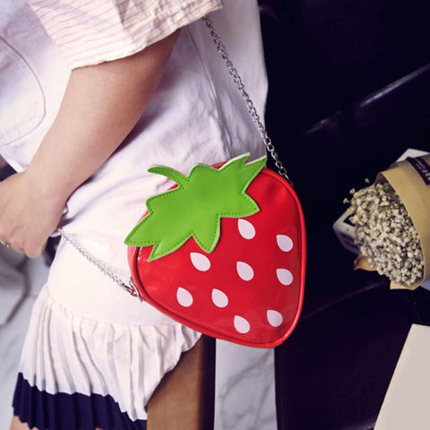 Mini Strawberry Shoulder Bag Model