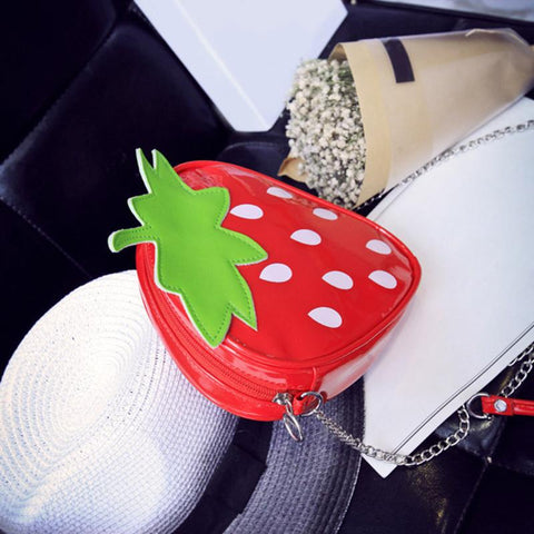 Top of Strawberry Purse
