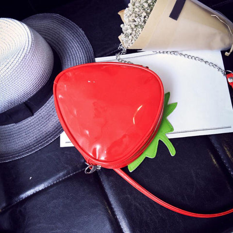Back of Mini Strawberry Purse