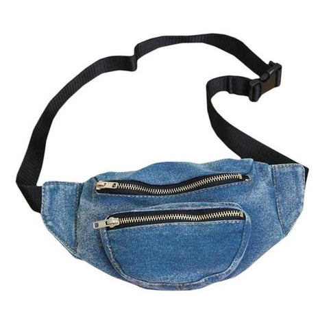 2-Pocket Jean / Denim Fanny Pack Waist Bag