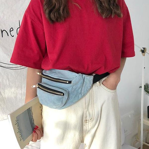 Denim Waist Bag