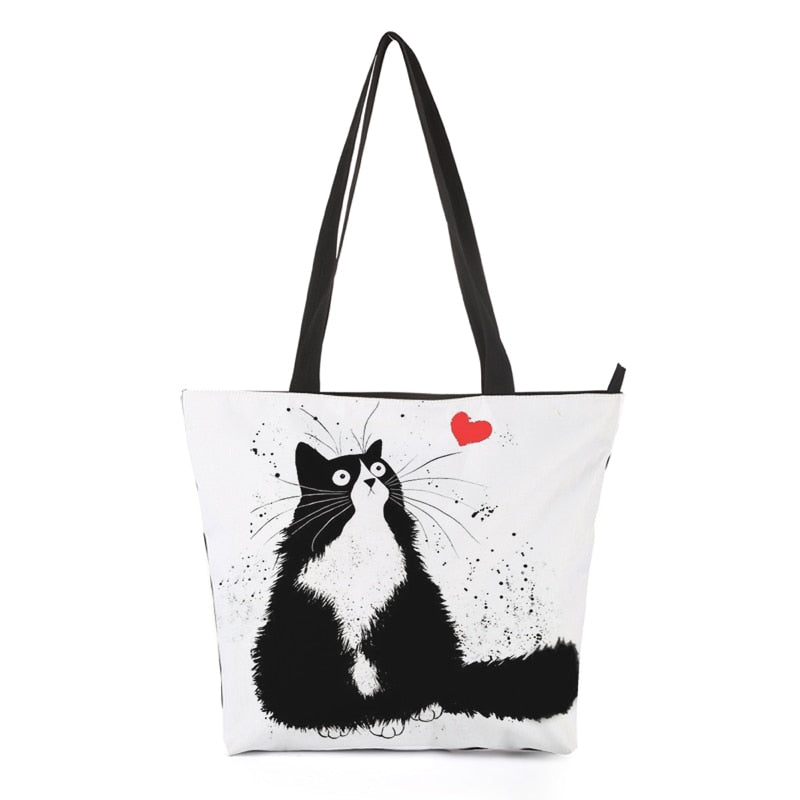 Kitty Cat Tote Bag Style 1