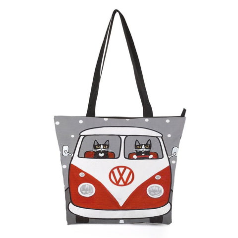 Car Driving Cat Shoulder Bag Style 2