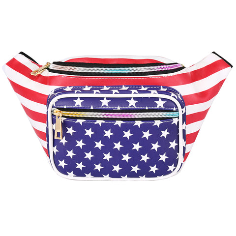 American Flag USA Fanny Pack Waist Bag