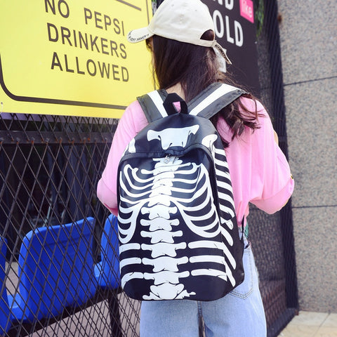 Black Skeleton Backpack Model