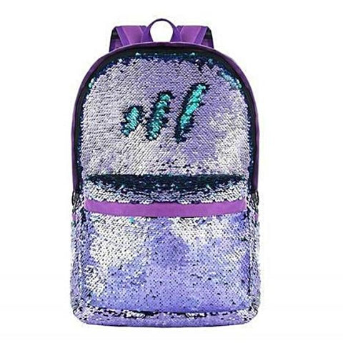 Multi-Color 2-Way Reversible Sequin Backpack Purple