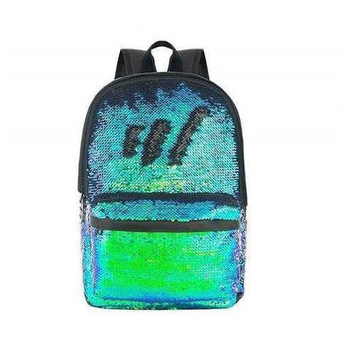 Multi-Color 2-Way Reversible Sequin Backpack Green