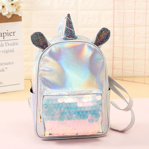 Holographic Sequin Unicorn Backpack