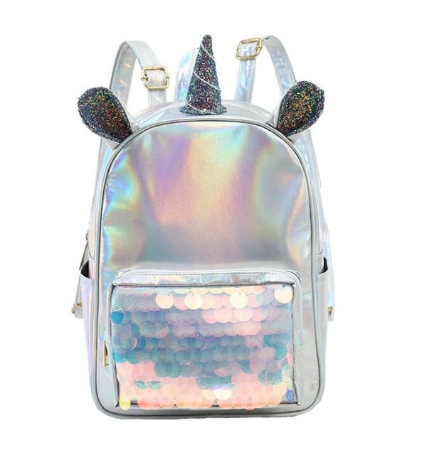 Holographic Sequin Unicorn Backpack Default Title