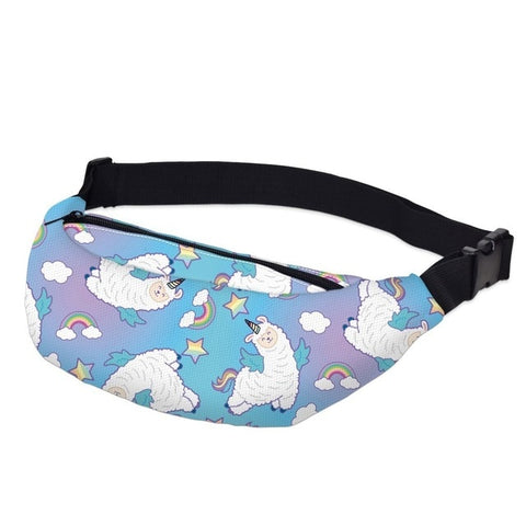 Llama / Unicorn Pattern Fanny Pack Waist Bag Style 9