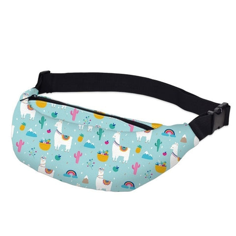 Llama / Unicorn Pattern Fanny Pack Waist Bag Style 4