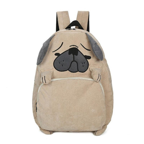 Kids Corduroy Puppy Dog Backpack