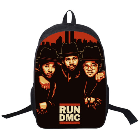"Hip-Hop Rap Legends Backpack (17"") Run DMC"