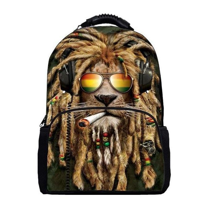 Dreadlock Rasta Lion Backpack